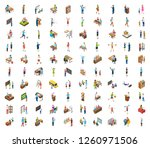 flat icons encapsulating 100... | Shutterstock .eps vector #1260971506