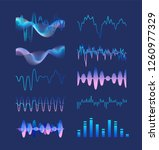 set of various colorful sound... | Shutterstock .eps vector #1260977329