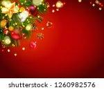 christmas festive composition... | Shutterstock .eps vector #1260982576
