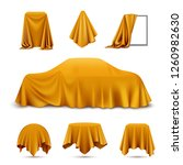 golden silk cloth covered... | Shutterstock .eps vector #1260982630