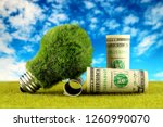 One Dollar Banknotes And Green...