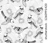 seamless pattern with birds and ... | Shutterstock .eps vector #1260991420