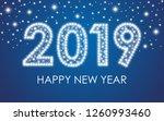 2019 happy new year. | Shutterstock . vector #1260993460