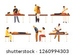 collection of osteopaths... | Shutterstock .eps vector #1260994303