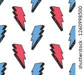 lightning seamless pattern... | Shutterstock .eps vector #1260998500