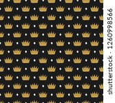 crown seamless pattern  hand... | Shutterstock .eps vector #1260998566