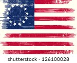 old union dirty flag. betsy... | Shutterstock .eps vector #126100028