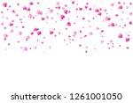 heart falling isolated on white ... | Shutterstock .eps vector #1261001050