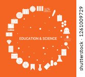 education and science icon set. ... | Shutterstock .eps vector #1261009729