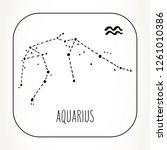 aquarius hand drawn zodiac sign ... | Shutterstock .eps vector #1261010386