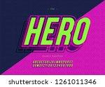 vector bold hero font trendy... | Shutterstock .eps vector #1261011346