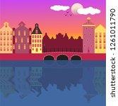 cool vector background ... | Shutterstock .eps vector #1261011790