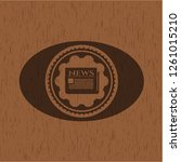 newspaper icon inside retro...   Shutterstock .eps vector #1261015210
