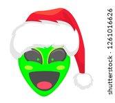 alien face emoji. alien green...   Shutterstock .eps vector #1261016626