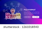 file formats concept  developer ... | Shutterstock .eps vector #1261018543