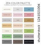 zen color palette vector chart | Shutterstock .eps vector #1261021006