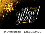 happy new year eve black and... | Shutterstock .eps vector #1261022470