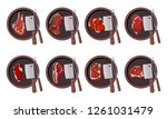 roasted beef isolated vector.... | Shutterstock .eps vector #1261031479
