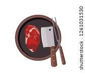 roasted beef isolated vector.... | Shutterstock .eps vector #1261031530