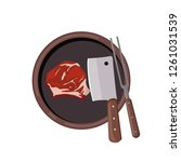 roasted beef isolated vector.... | Shutterstock .eps vector #1261031539