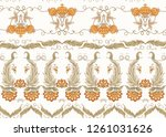 seamless pattern with stylized... | Shutterstock .eps vector #1261031626