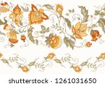 seamless pattern with stylized... | Shutterstock .eps vector #1261031650