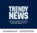 vector stylish logo trendy news.... | Shutterstock .eps vector #1261035526