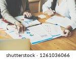 asian business people meeting... | Shutterstock . vector #1261036066