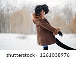 curly hair african american... | Shutterstock . vector #1261038976