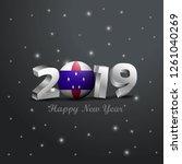 2019 happy new year netherlands ... | Shutterstock .eps vector #1261040269