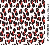 leopard pattern animal pattern... | Shutterstock .eps vector #1261045126