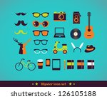 hipster concept icon set | Shutterstock .eps vector #126105188
