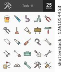 tools filled line icons | Shutterstock .eps vector #1261054453