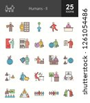 humans filled line icons | Shutterstock .eps vector #1261054486