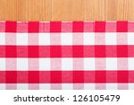 checked with red and white... | Shutterstock . vector #126105479