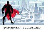 silhouette of superhero...   Shutterstock .eps vector #1261056280