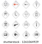 guitar and accessories flat... | Shutterstock .eps vector #1261064929