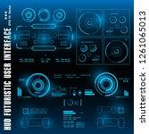 hud futuristic blue user...   Shutterstock .eps vector #1261065013