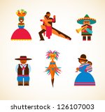 south american people   concept ... | Shutterstock .eps vector #126107003
