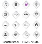 power generation flat rhombus... | Shutterstock .eps vector #1261070836