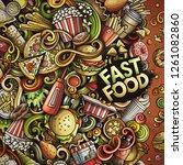 fastfood hand drawn vector... | Shutterstock .eps vector #1261082860