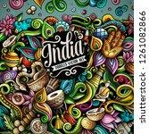 india hand drawn vector doodles ... | Shutterstock .eps vector #1261082866