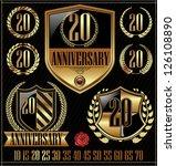 anniversary golden labels set ... | Shutterstock .eps vector #126108890