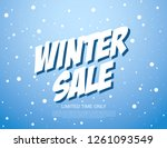 winter sale banner template... | Shutterstock .eps vector #1261093549