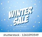 winter sale banner template... | Shutterstock .eps vector #1261093549