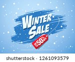 winter sale banner template... | Shutterstock .eps vector #1261093579