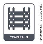train rails icon vector on... | Shutterstock .eps vector #1261095463