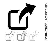 share icon graphic deign | Shutterstock .eps vector #1261096486