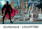 silhouette of superhero... | Shutterstock .eps vector #1261097080