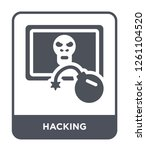 hacking icon vector on white... | Shutterstock .eps vector #1261104520